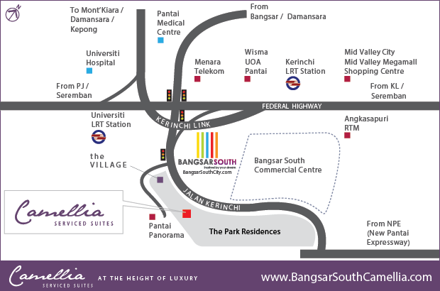 Bangsar South Camellia Location Map
