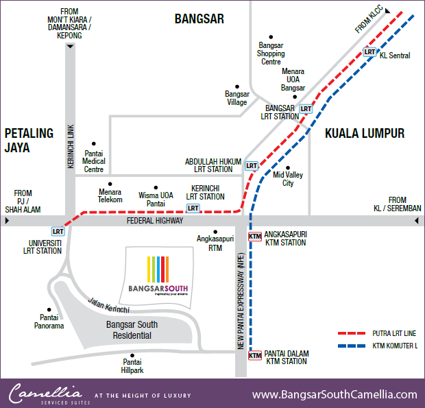 Bangsar South Camellia LRT Public Transport