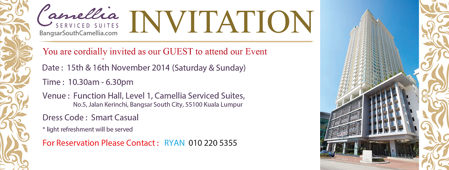 Bangsar South Camellia Serviced Suites - Event Invitation