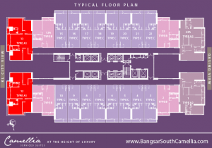 Bangsar South Camellia Type A1 Unit Floor Plan