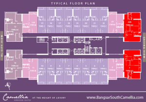Bangsar South Camellia Type A2 Unit Floor Plan