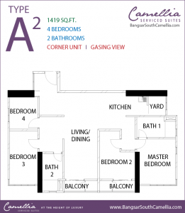 Bangsar South Camellia Serviced Suites - Unit Type A2 - Floor Plan