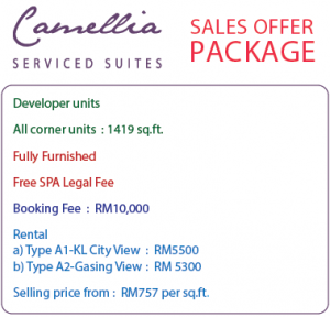 camellia serviced suites sales offer packages
